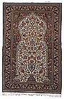 Fantastic PERSIAN QUM PRAYER RUG