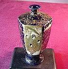 Antique SATSUMA COBALT VASE ca. 1850 -'75