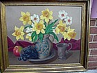 OIL ON CANVAS STILL LIFE BY JOANN GENT LISTED ARTIST