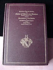 Book of STEUBEN STATUE in Lafay.Park W., D.C.