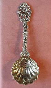 800 SILVER SUGAR SIFTER {Figural wGilded Bowl
