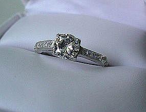 PLATINUM DIAMOND ENGAGEMENT RING 3/5 CARAT VS1 GH
