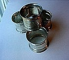 4 VICTORIAN ~  20TH CENTURY STERLING NAPKIN RINGS