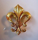 RETRO 14K FLEUR DE LYS WATCH PIN