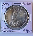CANADIAN SILVER COIN .. 1936 SILVER DOLLAR UNC