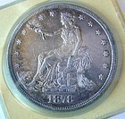 RARE US COIN 1878S TRADE DOLLAR AU CONDITION