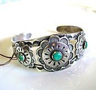 NATIVE AMERICA STERLING wTURQUOISE BRACELET