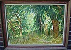 JOSE FABRI CONTE OIL ON CANVAS FOREST SCENE.. LISTED