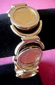 EXCELLENT MULTI COINS BRACELET In 18K GOLD