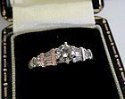 PLATINUM DIAMOND ENGAGEMENT RING 1/3 CT CENTER DIAMOND