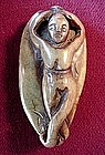 Chinese Nephrite JADE PENDANT {LADY Depicted
