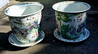 PAIR CHINESE PORCELAIN PLANTERS Ca. 1925- 1950