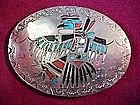 Great Native American SILVER ZUNI BUCKLE