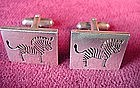 MEXICO STERLING ZEBRA CUFFLINKS Marked 970