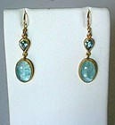 LIKA BEHAR 24K & AQUAMARINE EARRINGS