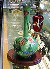 JAPANESE CLOISONNE VASE  DUCKS ON WATER SIGNED