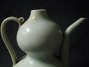 Song Dynasty - Very Fine Qingpai Gourd Shaped Ewer