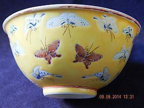 QING DYNASTY - TONGZHI PERIOD BUTTERFLY BOWL