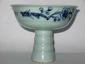 Ming Dynasty - Blue and White Stem Cup