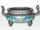 Qing Dynasty - Cloisonne Censer  Circa Mid Qing Dynasty