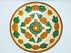 Liao Dynasty - Sancai Moulded Earthenware Dish
