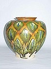 Tang Dynasty - Sancai Glazed Baluster Shaped Vase