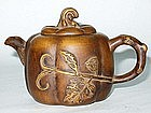 Early Republic: Pumpkin-Shaped Yixing Teapot