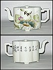 Early Republic - Lobed Shaped Porcelain Tea-Pot