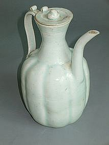 Yuan Dynasty - Finely Potted Eight Lobbed Qingbai Ewer