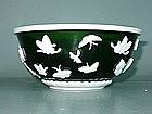 Qing Dynasty - Emerald Green Peking Glass Bowl
