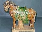 Ming Dynasty - Funerary Sancai Glazed Horse