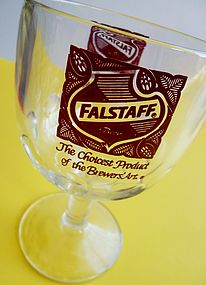 King Of Beers Vintage Falstaff Stemmed Drinking Glass