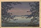 Hasui Woodblock Print - Takehara - 1st Ed SOLD