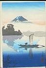 Tsuchiya Koitsu Woodblock Print - Kawaguchi SOLD