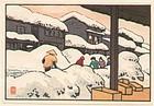 Toshi Yoshida  Woodblock Print - Snow