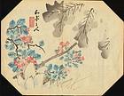 Taki Katei Japanese Woodblock Print - Lotus 1800s