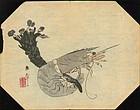 Kawabata Gyokusho Woodblock Print - Prawn 1800s