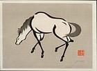 Urushibara Mokuchu Woodblock Print - Horse SOLD
