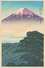 Hasui Woodblock Print - Fuji (from Gov. Tokyo) SOLD