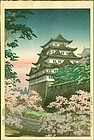Koitsu Japanese Woodblock Print - Nagoya Castle