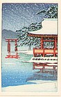 Japanese Woodblock Print - Miyajima (after Hasui)