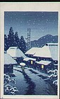 Kawase Hasui Woodblock Print - Evening Snow (2)SOLD