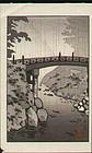 Tsuchiya Koitsu Woodblock Print - Nikko Rain