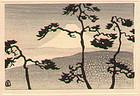 Tomoo Inagaki Miniature Woodblock Print - Mt. Fuji