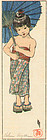 Helen Hyde Woodblock Print - A Summer Girl 1905 SOLD