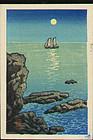 Kawase Hasui Japanese Woodblock Seascape SOLD