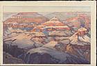 Hiroshi Yoshida Woodblock Print Grand Canyon SOLD
