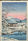 Koitsu Woodblock Print - Yaizunohara SOLD