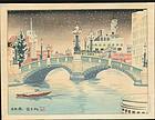 Tokuriki Tomikichiro Woodblock Print - Nihonbashi