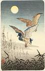 Tsuchiya Koitsu Japanese Woodblock Print - Ducks